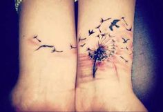 Dandelion wrist tattoo idea