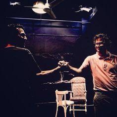 Dos hermanos buscando una verdad, la suya #truewest @teatroscanal #samshepard #luisrallo #israelfrias #albertoberzal #josécarlosplaza #septiembre #madrid #teatro #salanegra