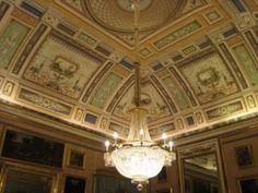 Palacio Real de Aranjuez. Pinturas de la bóveda pompeyanas del despacho de Isabel II por Pérez