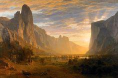 Le Prince Lointain: Albert Bierstadt (1830-1902), Looking Down Yosemit...