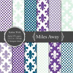 Miles Away Digital Paper Kit 12x12 inch jpgs files by KatiesWish  https://www.etsy.com/listing/82480211/miles-away-digital-paper-kit-12x12-inch?ref=shop_home_active_22