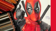 DRAWING DEADPOOL  Colored pencils drawing of Deadpool (Ryan Reynolds) #deadpool #drawing #draw