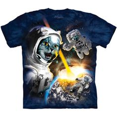 Cataclysm T-Shirt by The Mountain Funny Cat Astronaut Space Kitten Tee S-3XL NEW #funnycat #funnycatshirt