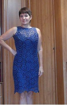 Нарядное платье 46-48 размера - запись пользователя Алекс (Салеева Александра) в сообществе Вязание крючком в категории Женская одежда крючком. Схемы и описание