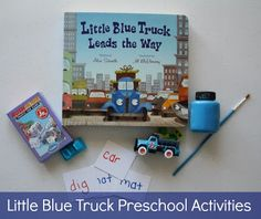 crayonfreckles: Little Blue Truck preschool activities didn't know there were more little blue trick books Wyatt loves them Sight Word Activities, Language Activities, Toddler Activities, Learning Activities, Preschool Literacy, Preschool Books, Preschool Ideas, Fall Preschool, Old Crayon Crafts