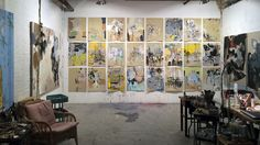 Anna's studio space in Dumbo, Brooklyn (Photo courtesy the artist)