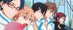 The others all grin at Rin, but Rin and Haru merely smirk at each other with *that look.*    =^w^=