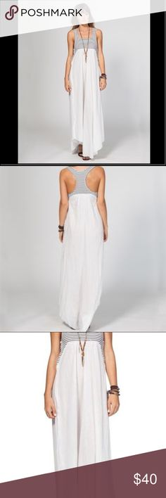 MAKE OFFERS❤️Beautiful Rip Curl maxi Sparrow dress Gorgeous light weight maxi dress by Rip Curl. They know how to make a light, beautifully done, casual summer dress. This is BNWT and I am just selling as much as I can to make space in life. It's the perfect over your bikini dress, or the dress to run around in on these warm summer days. The top of the dress has really interesting, unique and flattering design aspects with the way the top is cut. It looks amazing and moves like the breeze…