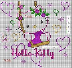 kitty swings among the hearts