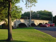 The bridge that you saw and you knew you were finally at Lenape Park!