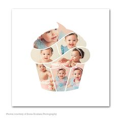 Cupcake Shape Collage Wall Art   My Product Catalog