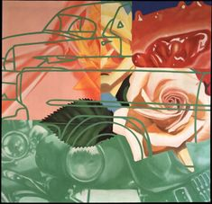 """""""Cage"""", Oil and Acrylic on Canvas, by James Rosenquist. Jasper Johns, Peter Blake, Roy Lichtenstein, Robert Rauschenberg, David Hockney, Andy Warhol, Richard Hamilton, James Rosenquist, Modern Art"""