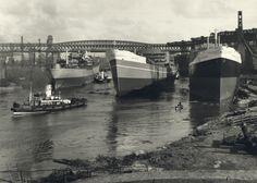 Three Sunderland-built ships on the River Wear  Tyne & Wear Archives