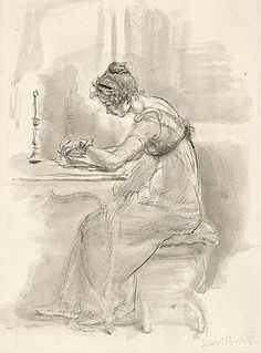 A woman who is a writer, and independent among those time where majority women's life was to marry and give heir to a family.