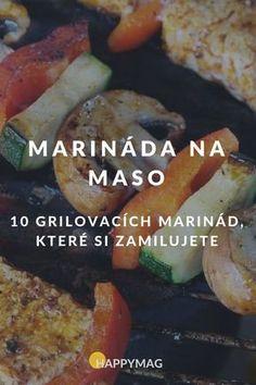 Marináda na maso u grilování je jedna z nejdůležitějších věcí, která je potřeba, abyste si pořádně pochutnaly. Zkuste tyhle, zamilujete si je. #marinada #maso #grilovani #recept Tzatziki, Weight Loss Smoothies, Food 52, Pesto, Baked Potato, Barbecue, Food And Drink, Cooking Recipes, Meals