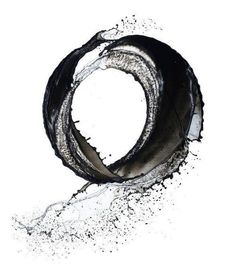 (zen buddhism) water enso. I love the idea that the enso is created using an aquious body