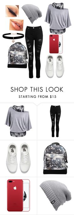 """""""Cute Outfit"""" by stellaheasman ❤ liked on Polyvore featuring Dorothy Perkins, Vans, Mi-Pac, The North Face and Betsey Johnson"""