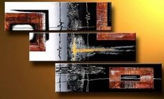 3 Pics Black Modern Art 100% Hand Painted Oil Painting on Canvas Wall Art Deco Home Decoration (Unstretch No Frame) by galleryworldwide, http://www.amazon.com/dp/B0094XRE2Q/ref=cm_sw_r_pi_dp_IBdUrb0XJWANR