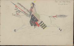 Рисунок Charles Murphy, Шайены. 1904 год.