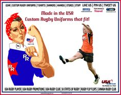 RUGBY ROSIE LIKES THAT TEAMS GET A KICK OUT MADE IN THE USA RUGBY UNIFORMS BY USA RUGBY CLUB!