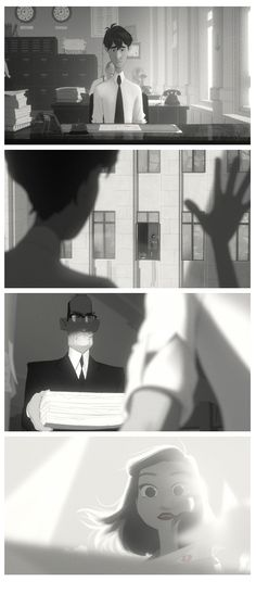 Still can't get over how much I love Paperman! Such a sweet story and amazing illustration style.