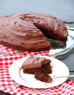 Saftig, enkel og sukkerfri sjokoladekake - LINDASTUHAUG Muffins, Food And Drink, Cookies, Baking, Healthy, Desserts, Caramel, Crack Crackers, Tailgate Desserts