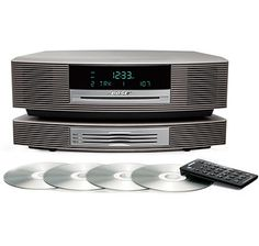 Bose Wave Music System III CD Radio and Bose Wave Multi-CD Changer, Titanium Silver, Compatible with Alexa and Bluetooth Adapter – My Fantastic Deals Bose Music System, The Shopping Channel, Shelf System, Winning The Lottery, Jewelry Shop, Jewellery, Online Clothing Stores, A Table, Wave