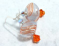 Hand Blown Glass Swarovski Crystal and by NancysCrystalFantasi, $22.00