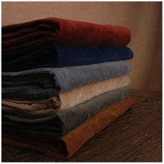 Collection de beaux pantalons en velours côtelé : bourgogne, marine, gris, taupe, vert olive foncé, cognac (autumn gold)