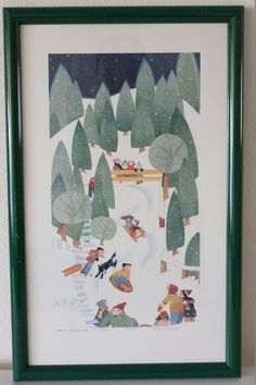 Night Sledding Juneau 1989 by RIE MUNOZ / Signed Limited by POTUKS