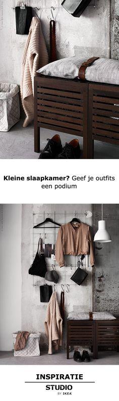 STUDIO by IKEA - Kleine slaapkamer? Geef je outfits een podium   STUDIObyIKEA IKEA IKEAnl IKEAnederland inspiratie wooninspiratie opruimen opbergen klein kamer tip oplossing