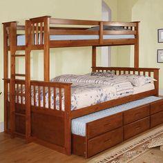 Castello Twin Over Full Murphy Bunk Bed bedroom