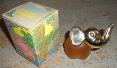 Vintage Avon Elephant Perfume Bottle Good Luck by TheBackShak