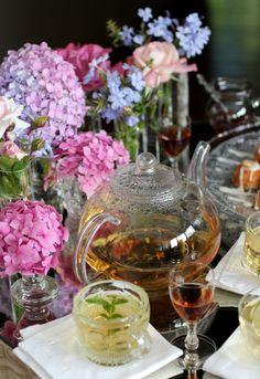 Please come for Tea & Sherry.  Tea Menu and recipe. Home-Grown Fresh Lemon Verbena Tea Bodega Dios Baco Oloroso Sherry Mini Sherry Tea Cakes with Marcona Almond & Rosemary Roasted Black Fig...