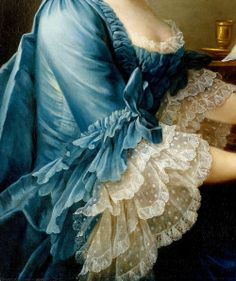 Portrait of a Woman by Francois Hubert Drouais, 1757 (detail)