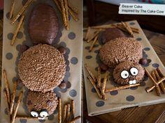boy's-beaver-themed-birthday-cake