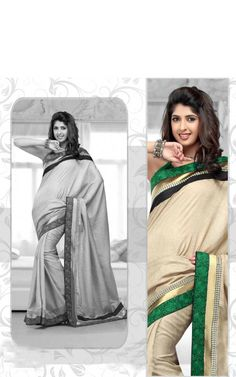 CREAM BANARASSI COTTON LATEST SAREE - RIS 1713B