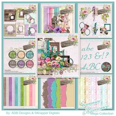 Summer Romance: The Collection - $11.99 : Digital Scrapbooking Studio  AMAZING VALUE Collab by #ADBDesigns & #SKrapper Digitals