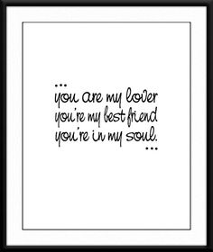 Song lyrics art print. You're in my heart by Rod Stewart. Etsy typography by SweetPatunyPrints, $5.00