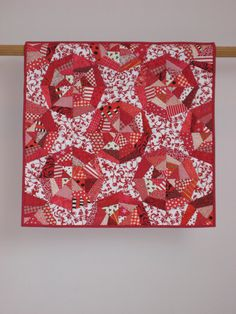Red Webs wall quilt by tinacurran on Etsy, $500.00