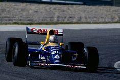 Riccardo Patrese test their new Williams-FW14B Renault RS4 V10. Pre-Season Test, Estoril 1992