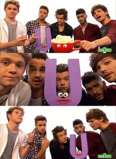 While Justin Bieber is getting arrested, my idols are on Sesame Street singing about the letter U. Well, I picked a good idols