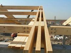 laminated veneer lumber (LVL): structural composite lumber, laminated thin veneers with grain parallel to long direction, dim stability