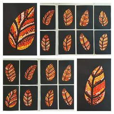 Best 10 Autumn Aboriginal leaf art…in progress! Lesson idea from 🎨arted – SkillOfKing. Autumn Crafts, Autumn Art, Drawing For Kids, Art For Kids, Fall Art Projects, 4th Grade Art, Art Curriculum, Kindergarten Art, Halloween Crafts For Kids