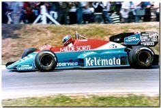 Jo Gartner Osella Alfa Romeo FA1F F1 1984 British GP Brands Hatch