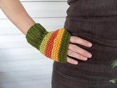 Fingerless Gloves Women GlovesPumpkinHarvest by SmilingKnitting, $22.00