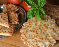 Cheese bread pizza. Use for bread sticks, pizza, or even crackers. Make dough in food processor and let sit in the fridge a couple of days. Form into shaped and microwave.