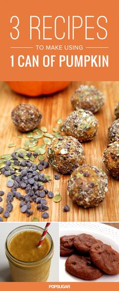 Make these 3 recipes with just 1 can of pumpkin!