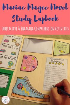 Maniac Magee Novel Study Lapbook (or interactive notebook) activities- text connections, character traits, evaluation, writing extension. Grades 4, 5, and 6.