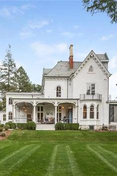 Victorian Farmhouse, Victorian Gothic, Modern Victorian Homes, Victorian Houses, Gothic Lolita, Darien Connecticut, Jacksonville Florida, Dream House Exterior, House Goals